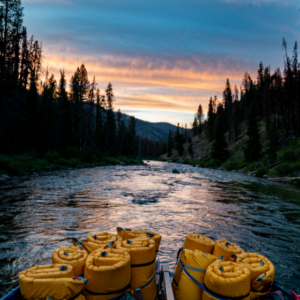 Salmon River Float Trip at Sunset